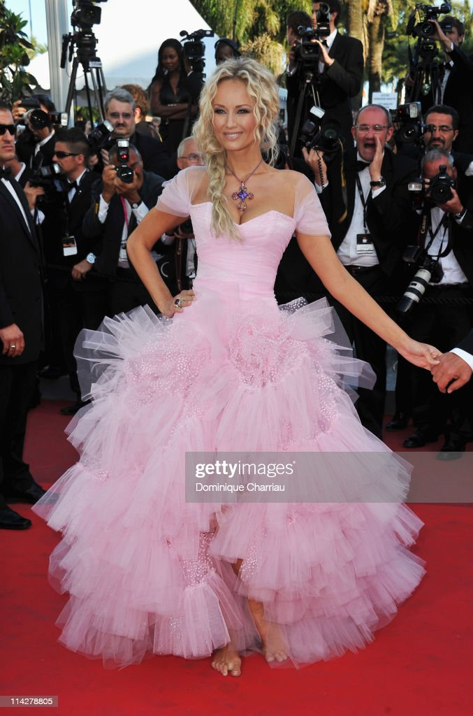 Adriana Karembeu attends 'The Beaver' Premiere during the 64th Cannes Film Festival at the Palais des Festivals on May 17 2011 in Cannes France