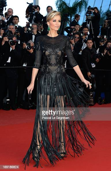 Adriana Karembeu attends the 'Cleopatra' premiere during The 66th Annual Cannes Film Festival at The 60th Anniversary Theatre on May 21 2013 in...