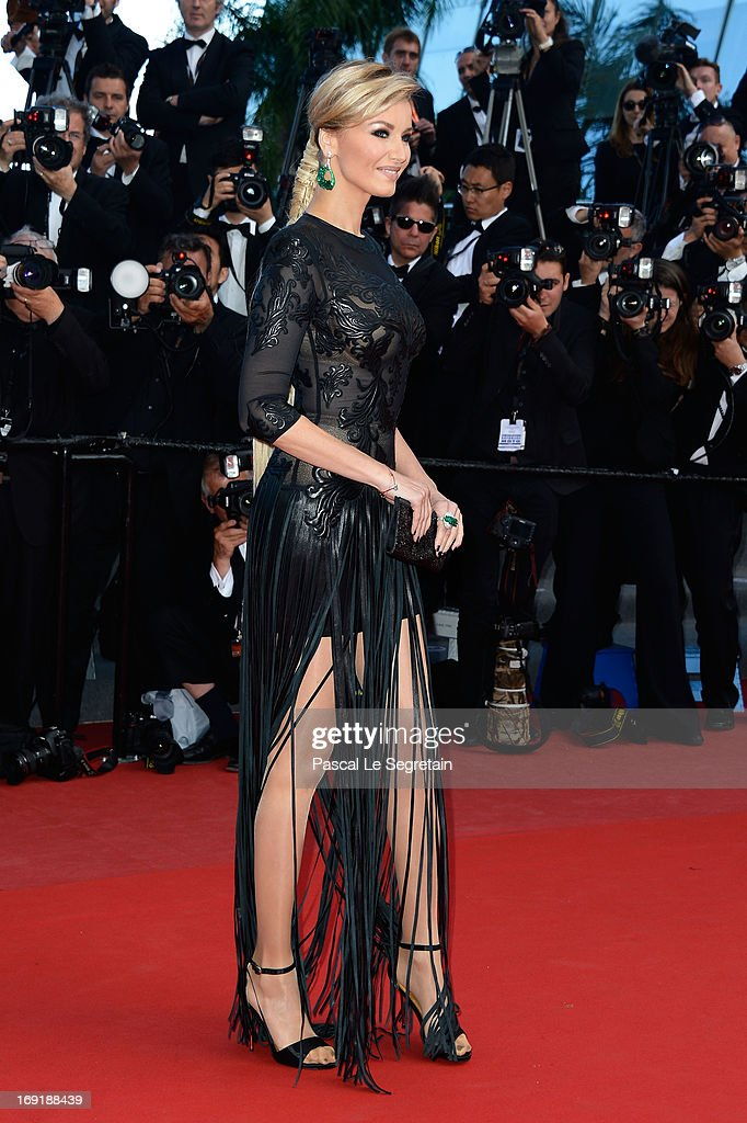 Adriana Karembeu attends the 'Cleopatra' premiere during The 66th Annual Cannes Film Festival at The 60th Anniversary Theatre on May 21, 2013 in Cannes, France.