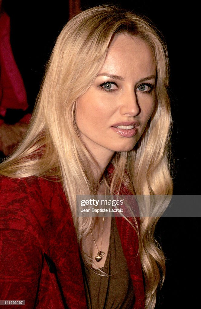 Adriana Karembeu during Paris Fashion Week Ready to Wear Spring / Summer 2005 - Guy Laroche - Front Row at Carrousel du Louvre in Paris, France.