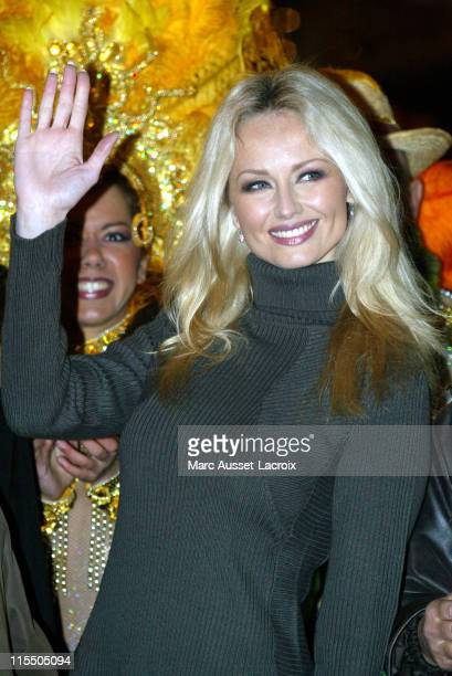 Adriana Karembeu during Switching on of ChampsElysees Christmas Lights at ChampsElysees in Paris France