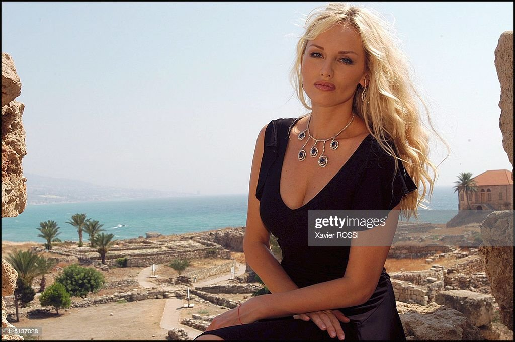 <a gi-track='captionPersonalityLinkClicked' href=/galleries/search?phrase=Adriana+Karembeu&family=editorial&specificpeople=207098 ng-click='$event.stopPropagation()'>Adriana Karembeu</a> in Beirut, Lebanon on July 27, 2003 - On the site of the citadel of Byblos.