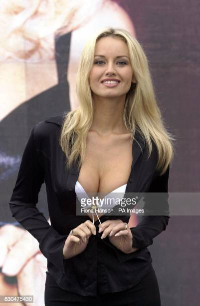 Adriana Karembeu launching the new Variable Cleavage Wonderbra in Bethnal Green London The cleavage depth can be altered by pulling the strings at...