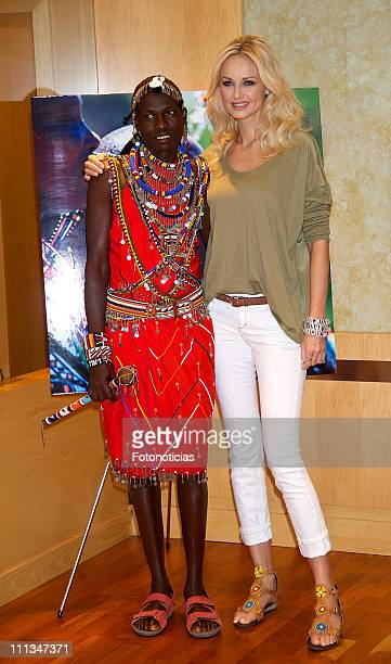 Adriana Karembeu presents the new 'Massai' Pikolino shoes collection at EL Corte Ingles on April 1 2011 in Madrid Spain