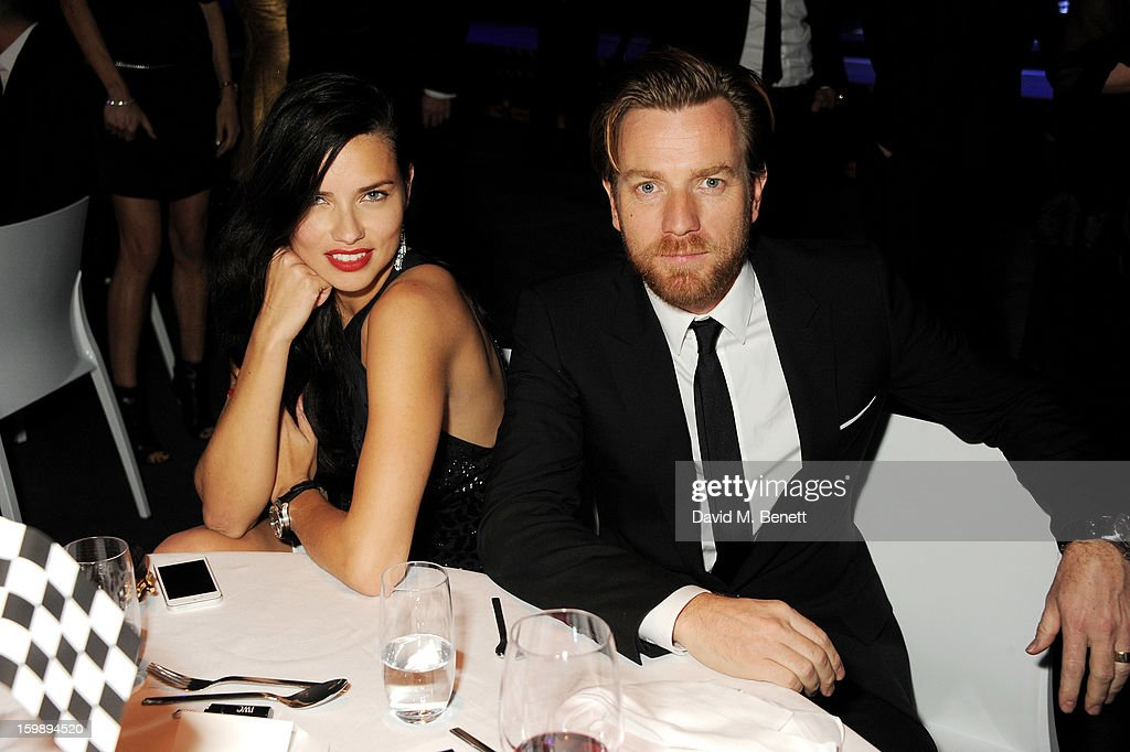 <a gi-track='captionPersonalityLinkClicked' href=/galleries/search?phrase=Adriana+Lima&family=editorial&specificpeople=182444 ng-click='$event.stopPropagation()'>Adriana Lima</a> (L) and Ewan McGregor attend the IWC Schaffhausen Race Night event during the Salon International de la Haute Horlogerie (SIHH) 2013 at Palexpo on January 22, 2013 in Geneva, Switzerland.