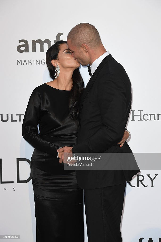Adriana Lima and Joe Thomas attends the amfAR's 23rd Cinema Against AIDS Gala at Hotel du CapEdenRoc on May 19 2016 in Cap d'Antibes