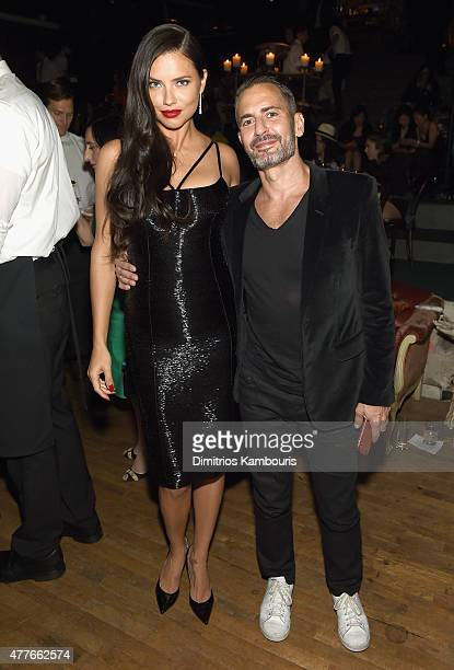 Adriana Lima and Marc Jacobs attend Marc Jacobs And Coty Celebrate DECADENCE on June 18 2015 in New York City