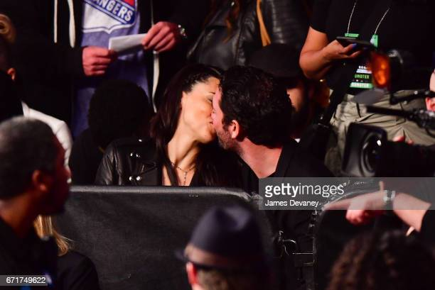 Adriana Lima and Matt Harvey kiss at the Andre Berto vs Shawn Porter headlined Showtime Championship Boxing bout presented by Premier Boxing...
