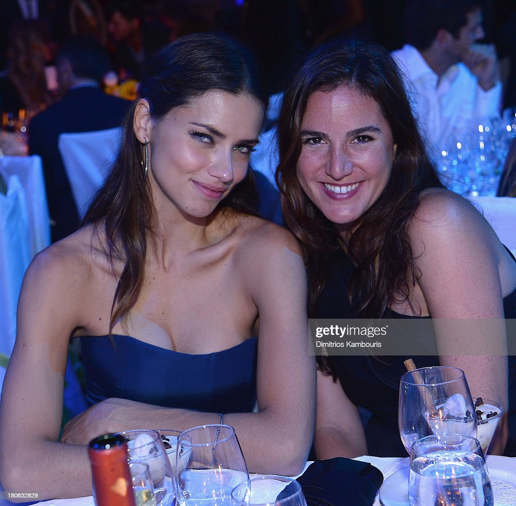 Adriana Lima and Nicole Esposito attend The Novak Djokovic Foundation New York Dinner at Capitale on September 10, 2013 in New York City.