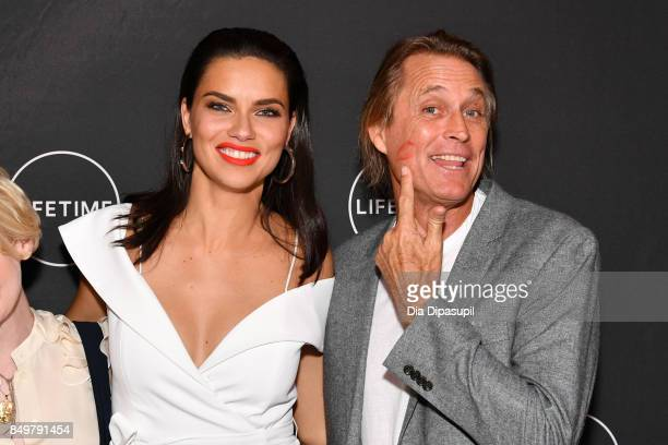 Adriana Lima and Russell James attend the 'American Beauty Star' premiere at Gramercy Terrace at The Gramercy Park Hotel on September 19 2017 in New...