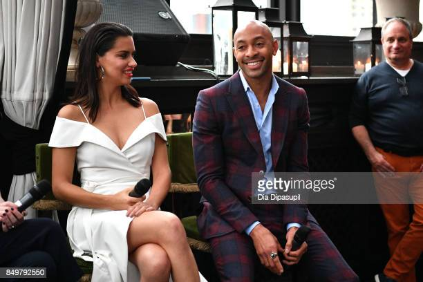 Adriana Lima and Sir John attend the 'American Beauty Star' premiere at Gramercy Terrace at The Gramercy Park Hotel on September 19 2017 in New York...
