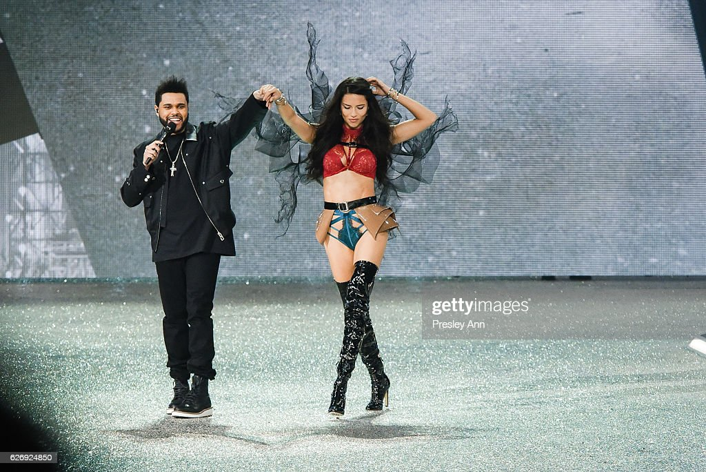 adriana-lima-and-the-weeknd-walk-the-runway-2016-victorias-secret-picture-id626924850