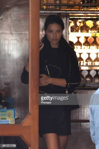 Adriana Lima are seen while filming for the International Watch Company on May 16 2014 in Portofino Italy