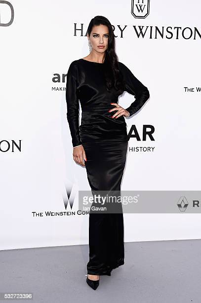 Adriana Lima arrives at amfAR's 23rd Cinema Against AIDS Gala at Hotel du CapEdenRoc on May 19 2016 in Cap d'Antibes France