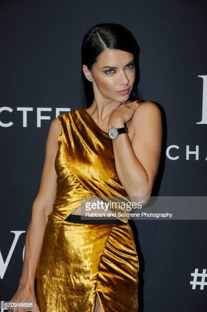 Adriana Lima attends 2017 IWC Schaffhausen 'For The Love Of Cinema' Gala Dinner at Spring Studios on April 20 2017 in New York City
