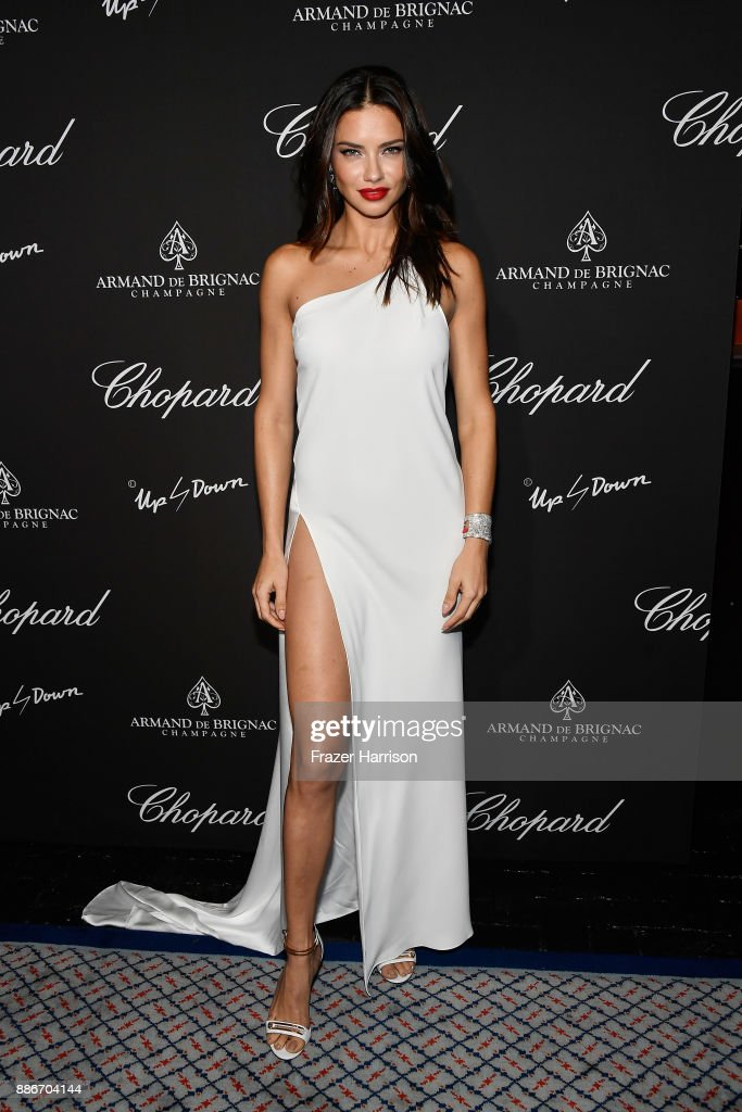Adriana Lima attends Creatures Of The Night Late-Night Soiree Hosted By Chopard And Champagne Armand De Brignac at The Setai Miami Beach on December 5, 2017 in Miami Beach, Florida.