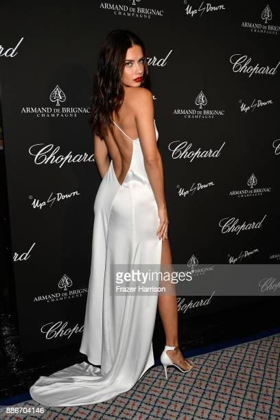 Adriana Lima attends Creatures Of The Night LateNight Soiree Hosted By Chopard And Champagne Armand De Brignac at The Setai Miami Beach on December 5...