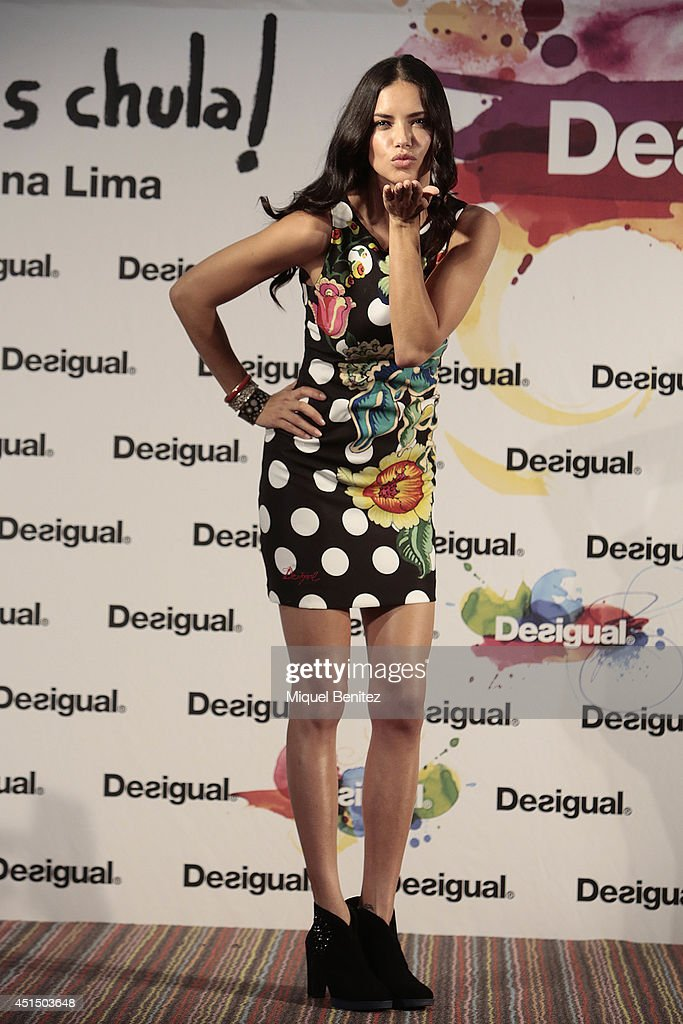 <a gi-track='captionPersonalityLinkClicked' href=/galleries/search?phrase=Adriana+Lima&family=editorial&specificpeople=182444 ng-click='$event.stopPropagation()'>Adriana Lima</a> attends 'La Vida es Chula' - 'Life is Coll' by Desigual new collection during the 080 Barcelona Fashion on June 30, 2014 in Barcelona, Spain.