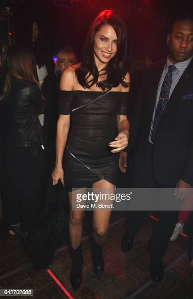 Adriana Lima attends Maybelline's Bring On The Night London Fashion Week party at The Scotch of St James on February 18 2017 in London England