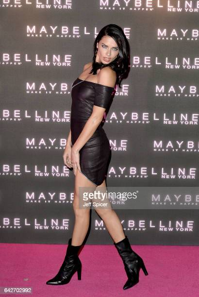 Adriana Lima attends Maybelline's Bring On The Night Party on February 18 2017 in London United Kingdom