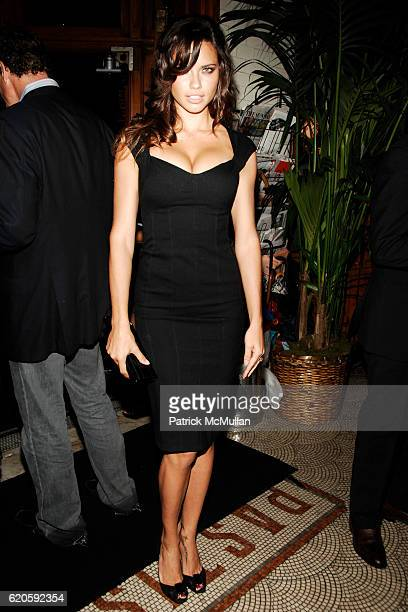 Adriana Lima attends Private Dinner hosted by CARLOS JEREISSATI CEO of IGUATEMI at Pastis on September 6 2008 in New York City