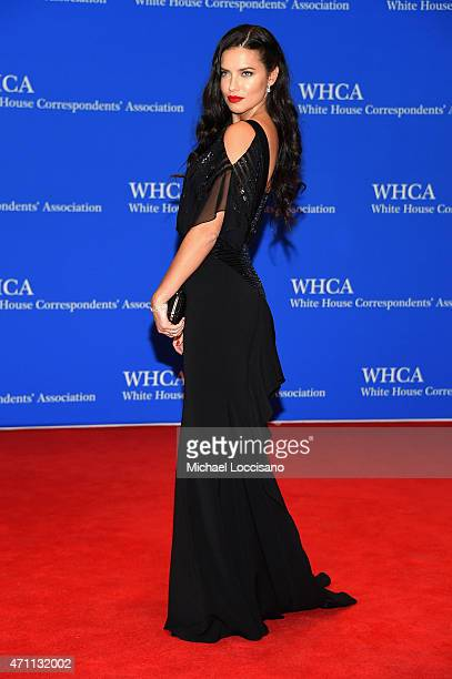 Adriana Lima attends the 101st Annual White House Correspondents' Association Dinner at the Washington Hilton on April 25 2015 in Washington DC