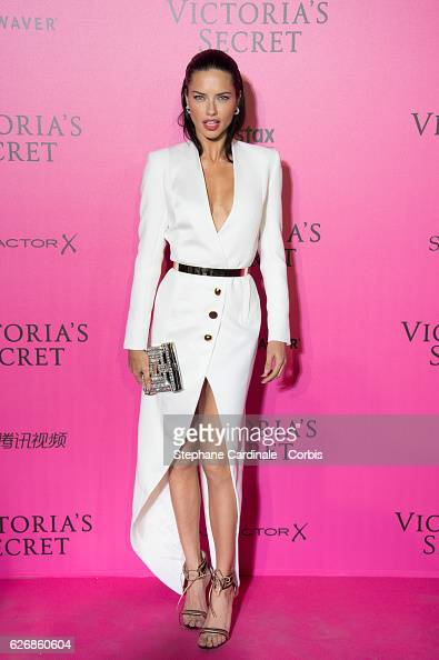 Adriana Lima attends the 2016 Victoria's Secret Fashion Show after party at Le Grand Palais on November 30 2016 in Paris France