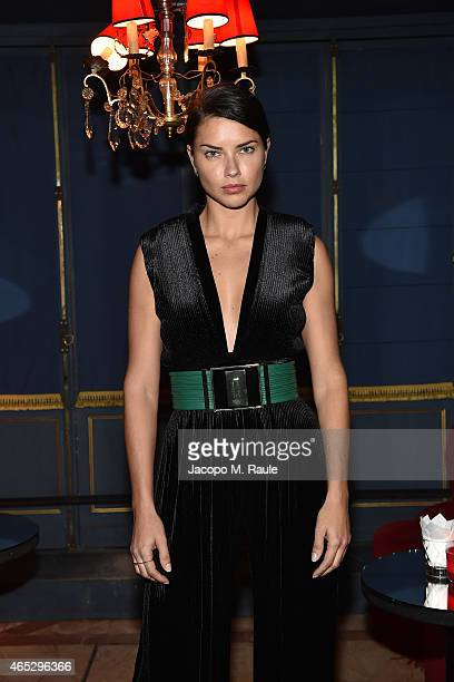 Adriana Lima attends the Balmain Aftershow Dinner as part of the Paris Fashion Week Womenswear Fall/Winter 2015/2016 on March 5 2015 in Paris France