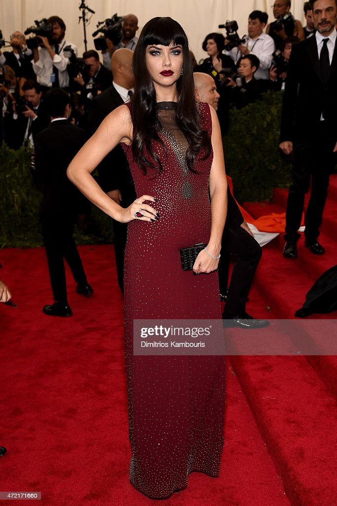 <a gi-track='captionPersonalityLinkClicked' href=/galleries/search?phrase=Adriana+Lima&family=editorial&specificpeople=182444 ng-click='$event.stopPropagation()'>Adriana Lima</a> attends the 'China: Through The Looking Glass' Costume Institute Benefit Gala at the Metropolitan Museum of Art on May 4, 2015 in New York City.