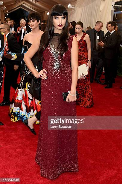 Adriana Lima attends the 'China Through The Looking Glass' Costume Institute Benefit Gala at the Metropolitan Museum of Art on May 4 2015 in New York...