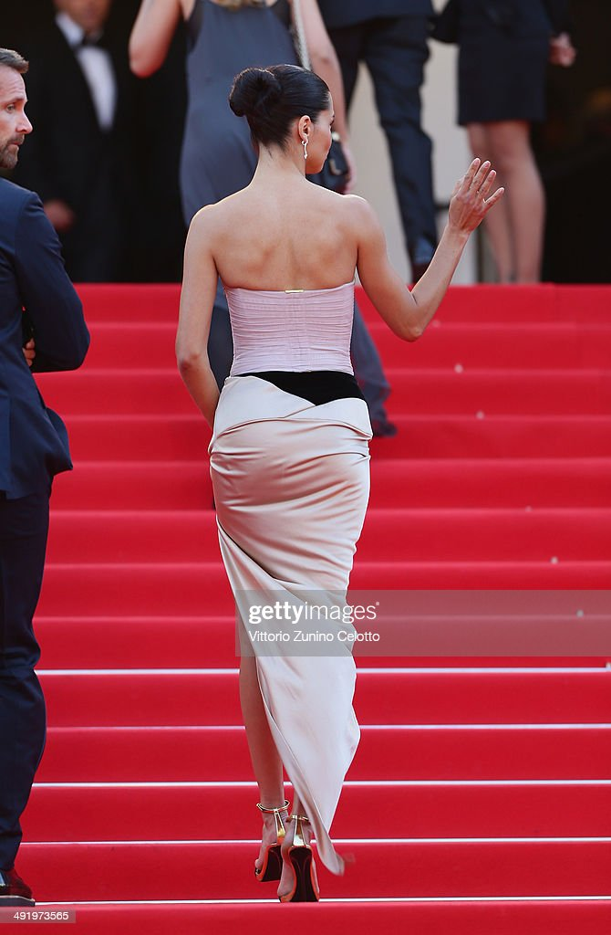 Adriana Lima attends 'The Homesman' premiere during the 67th Annual Cannes Film Festival on May 18, 2014 in Cannes, France.