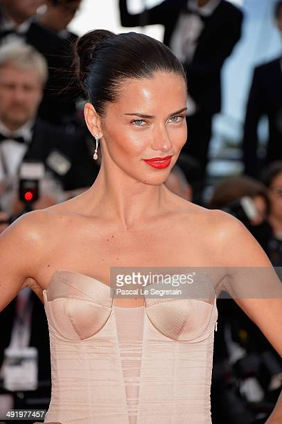 Adriana Lima attends 'The Homesman' premiere during the 67th Annual Cannes Film Festival on May 18 2014 in Cannes France