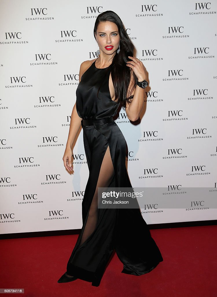 <a gi-track='captionPersonalityLinkClicked' href=/galleries/search?phrase=Adriana+Lima&family=editorial&specificpeople=182444 ng-click='$event.stopPropagation()'>Adriana Lima</a> attends the IWC 'Come Fly with us' Gala Dinner during the launch of the Pilot's Watches Novelties from the Swiss luxury watch manufacturer IWC Schaffhausen at the Salon International de la Haute Horlogerie (SIHH) 2016 on January 19, 2016 in Geneva, Switzerland.