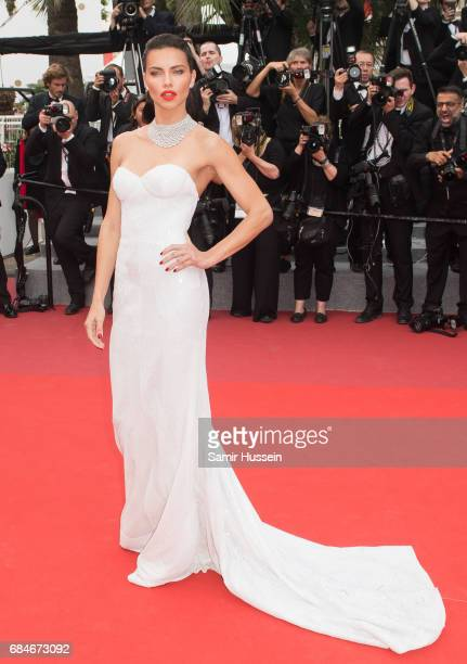 Adriana Lima attends the 'Loveless ' screening during the 70th annual Cannes Film Festival at Palais des Festivals on May 18 2017 in Cannes France