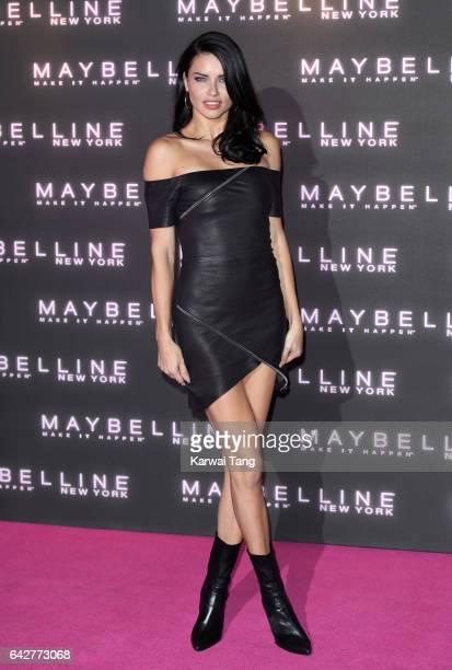 Adriana Lima attends the Maybelline Bring on the Night party at The Scotch of St James on February 18 2017 in London United Kingdom