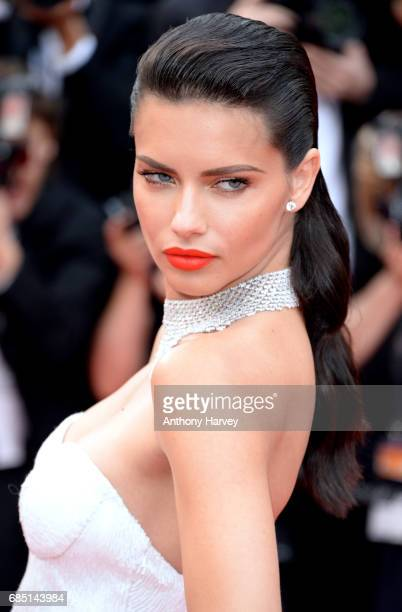 Adriana Lima attends the 'Nelyobov ' screening during the 70th annual Cannes Film Festival at Palais des Festivals on May 18 2017 in Cannes France