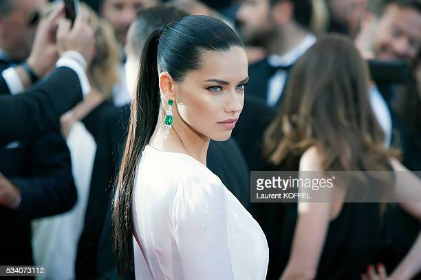 Adriana Lima attends the screening of the film 'Julieta' at the annual 69th Cannes Film Festival at the Palais des Festivals on May 17 2016 in Cannes...
