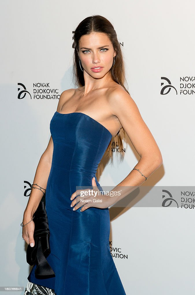 Adriana Lima attends the The 2013 Novak Djokovic Benefit Dinner at Capitale on September 10, 2013 in New York City.