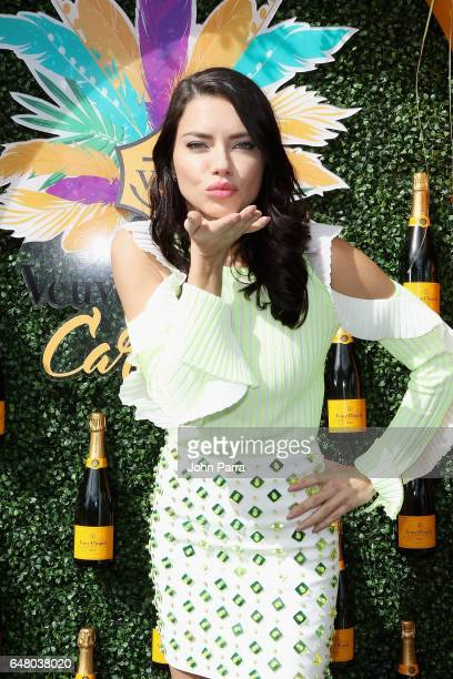 Adriana Lima attends the Third Annual Veuve Clicquot Carnaval at Museum Park on March 4 2017 in Miami Florida