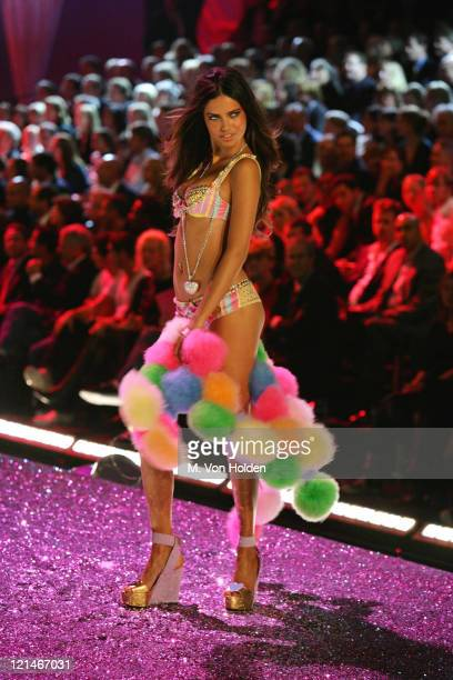 Adriana Lima during The 10th Annual Victoria's Secret Fashion Show at Lexington Armory in New York New York United States