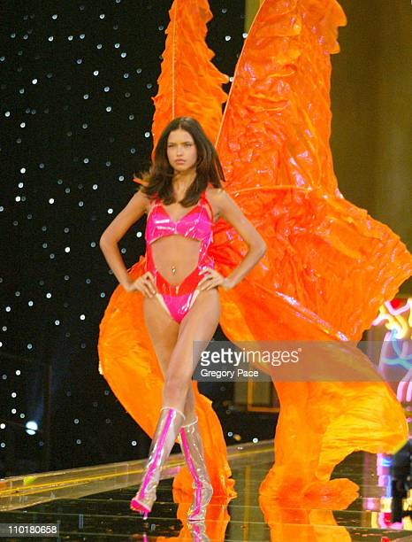 Adriana Lima during The 8th Annual Victoria's Secret Fashion Show Runway at Lexington Avenue Armory in New York City New York United States
