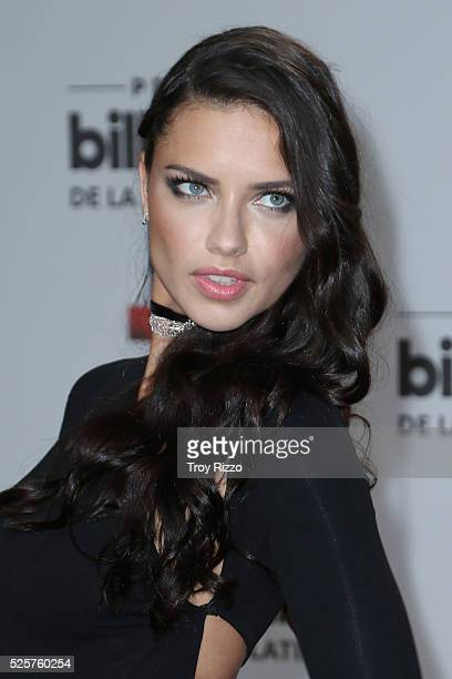 Adriana Lima is seen arriving to the Billboard Latin Music Awards at the Bank United Center on April 28 2016 in Miami Florida
