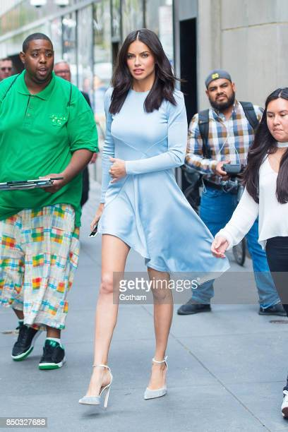 Adriana Lima is seen in Midtown on September 20 2017 in New York City