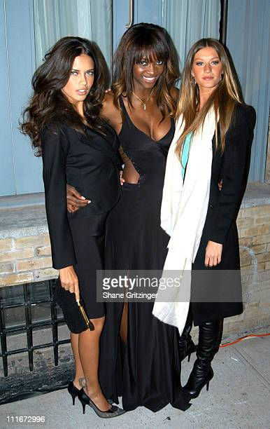 Adriana Lima Oluchi Onweagba and Gisele Bundchen during Victoria Secret Launches New Sexy Photo Book 'Backstage Sexy' at Spice Market in New York...