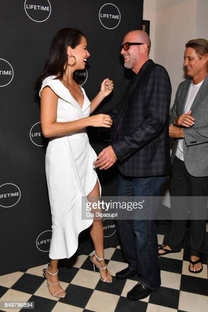 Adriana Lima Ross Elliot and Russell James attend the 'American Beauty Star' premiere at Gramercy Terrace at The Gramercy Park Hotel on September 19...