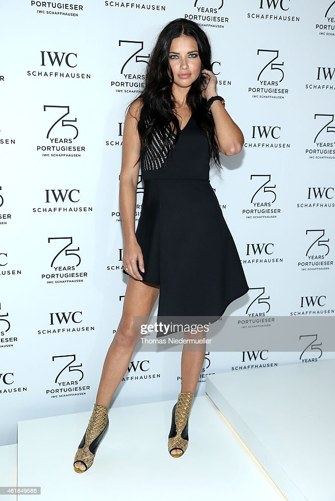 <a gi-track='captionPersonalityLinkClicked' href=/galleries/search?phrase=Adriana+Lima&family=editorial&specificpeople=182444 ng-click='$event.stopPropagation()'>Adriana Lima</a> visits the IWC booth during the Salon International de la Haute Horlogerie (SIHH) 2015 at the Palexpo on January 20, 2015 in Geneva, Switzerland.