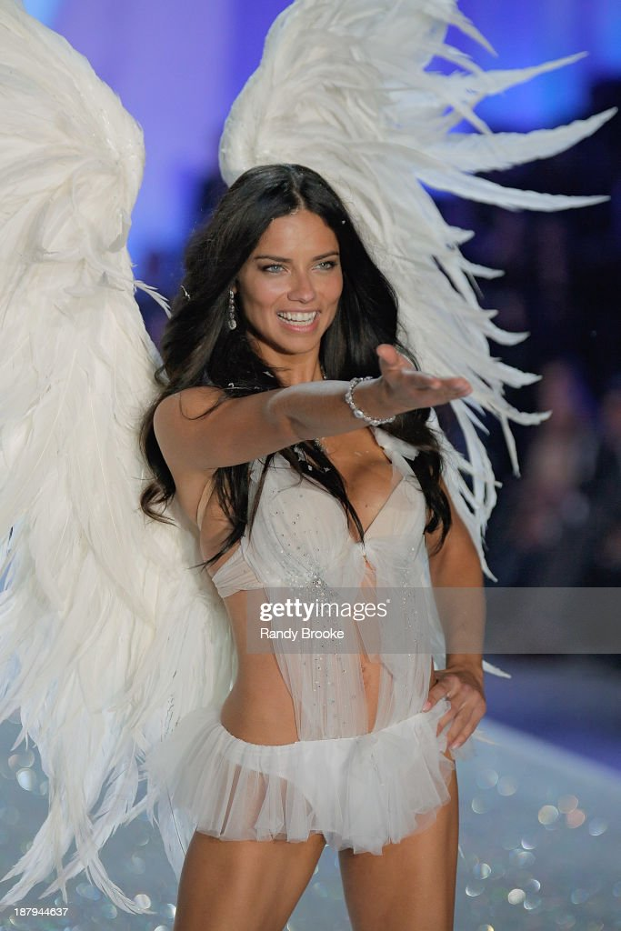 Adriana Lima walks in the 2013 Victoria's Secret Fashion Show at Lexington Avenue Armory on November 13, 2013 in New York City.