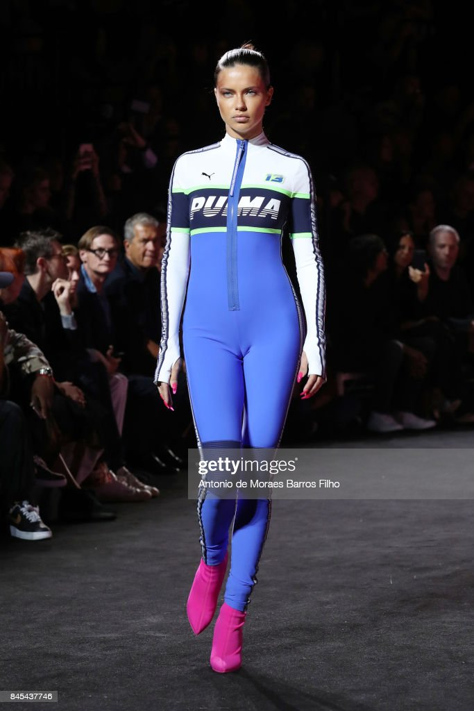 Adriana Lima walks the runway at Fenty Puma By Rihanna show during New York Fashion Week at the 69th Regiment Armory on September 10, 2017 in New York City.