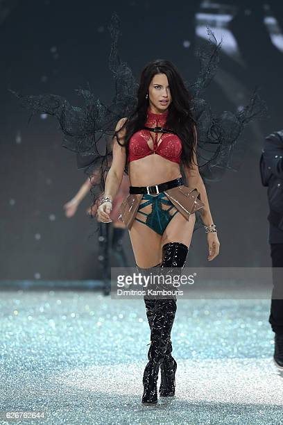 Adriana Lima walks the runway during the 2016 Victoria's Secret Fashion Show on November 30 2016 in Paris France