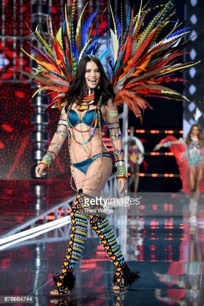 Adriana Lima walks the runway during the 2017 Victoria's Secret Fashion Show In Shanghai at MercedesBenz Arena on November 20 2017 in Shanghai China